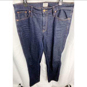 J. Crew dark wash vintage straight jeans 32t